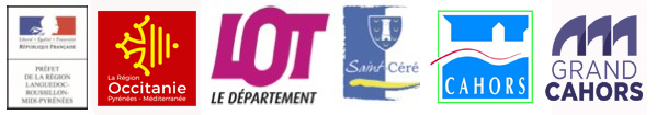 Bandeau Logos subventions saint céré